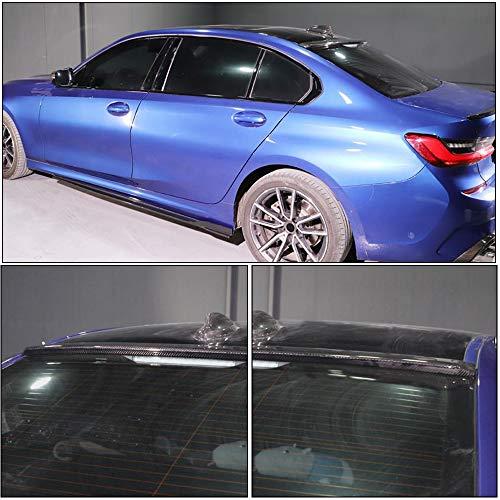 MCARCAR KIT Roof Spoiler fits BMW 3 Series G20 Sedan 2019UP Factory Outlet 320i 330i 330e M340i 318d 320d 330d Auto Carbon Fiber CF Rear Window Top Wing Lip