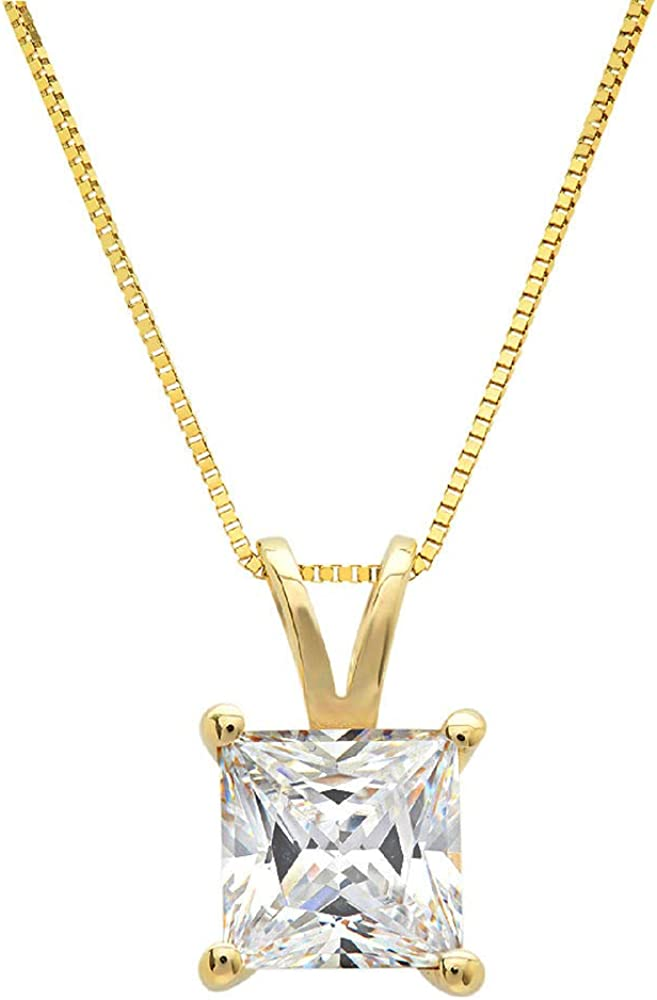 Clara Pucci 2.6 ct New Orleans Mall Large discharge sale Brilliant Genuine Stunning Flawl Princess Cut