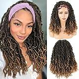 LEOSA Dreadlock Wig Light Brown Headband Wig New Faux Locs Crochet Hair 1b/27...