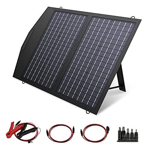 ALLPOWERS 60W Monocristalino Cargador Panel Solar Batería Placa Plegable con 5V USB 18V DC y 9 Paneles Solares para Phone los teléfonos móviles de
