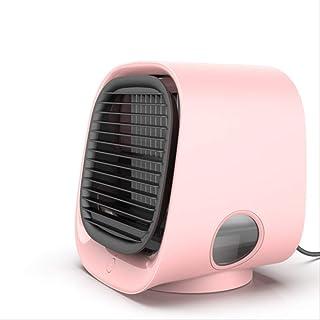 Mini Enfriador de Aire USB Refrigerador De Aire Portátil Ventilador Aire Acondicionado Humidificador 3 Gear USB Ventilador De Enfriamiento De Aire De Escritorio Dropshipping De Verano Rosado