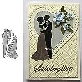 Metall-Stanzformen für Hochzeitskleid, Bastelvorlage, Hochzeitskleid, Brautpaar, Sammelalbum,...