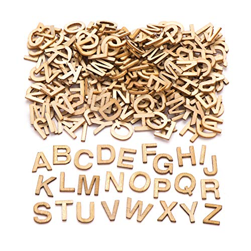 Baker Ross Mini Wooden Letter Templates (Pack of 260) For Kids to Decorate and Display