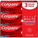 3-Pack Colgate Optic White Advanced Teeth Whitening Toothpaste, 3.2 ounce