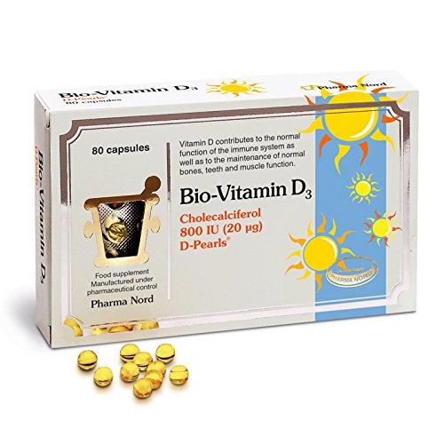 Pharma Nord Bio-Vitamin D3 800IU 20mcg 80 Capsules