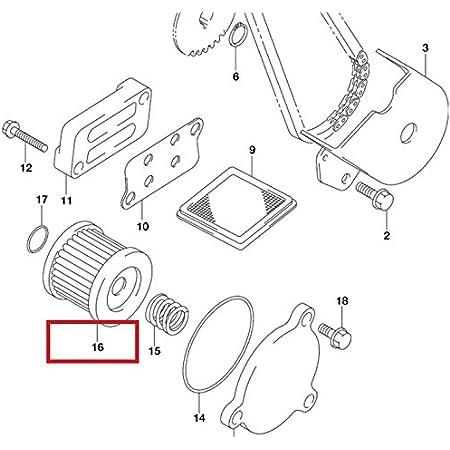 HiFlo Motorcycle Air Filter For Suzuki Burgman 125 200 HFA3103