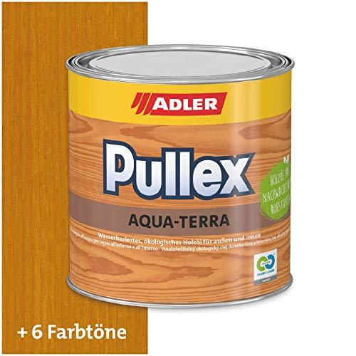 ADLER Pullex Aqua-Terra - Ökologisches Holzöl Außen & Innen - Universell anwendbar für starken Wasserschutz & lange Haltbarkeit - Auf Wasserbasis & nachwachsender Rohstoffe - Eiche 750 ml
