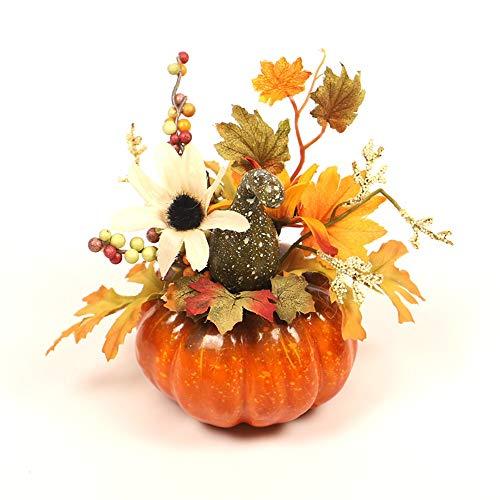 WJP Decoración de la Hoja de Arce Calabaza de Halloween, decoración casera simulación Tridimensional Calabaza, Otoño Color Decorativos Hechos a Mano Puntales (Color : C)