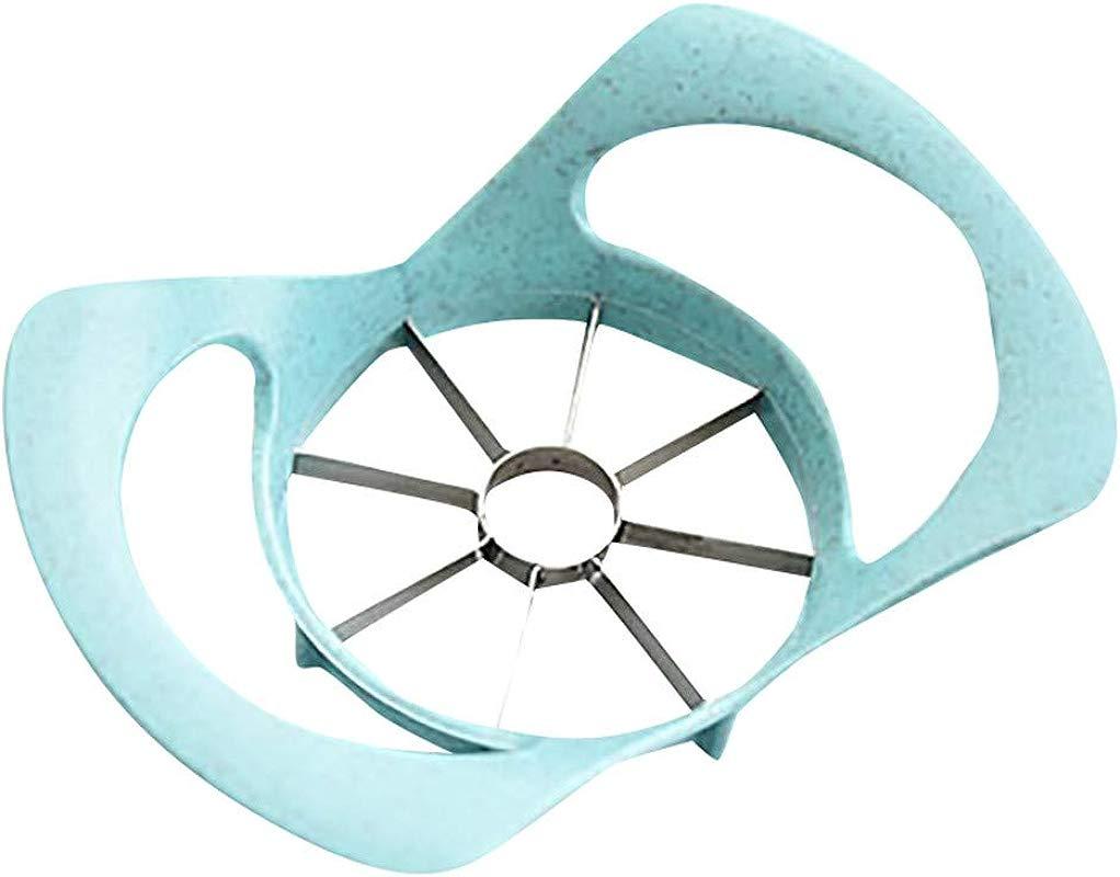 CMrtew Kitchen Apple Slicer Corer Cutter Pear Fruit Divider Tool Comfort Handle For Kitchen Apple Peeler Blue 19x13cm