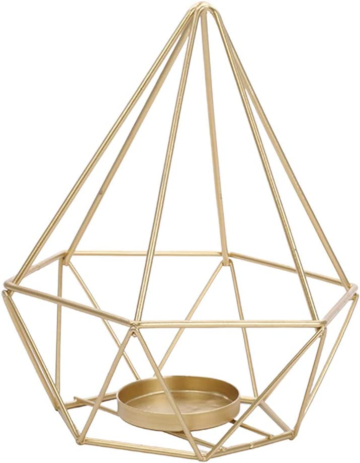 Prettyia Geometric Iron Candle Holder Jacksonville Mall Vinta Decorative Popular shop is the lowest price challenge Portable
