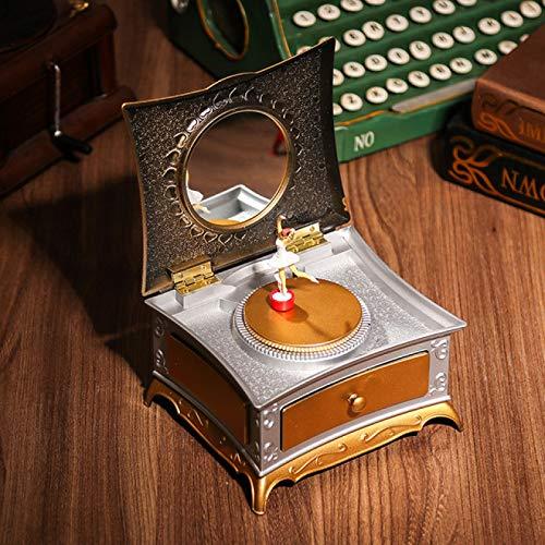 IADZ Caja de música, espejo de maquillaje, caja de música, caja de música para niños