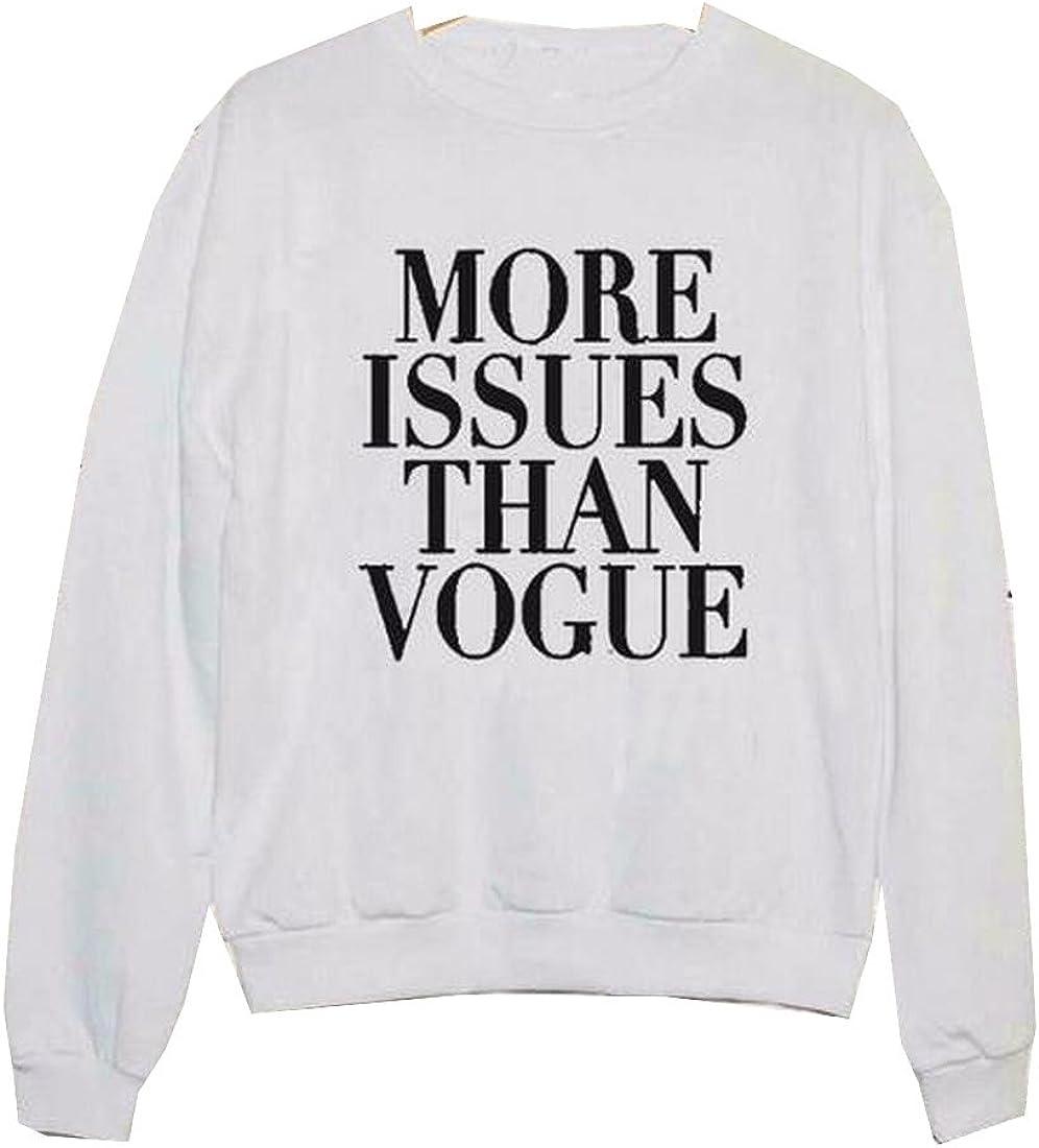 Women Casual Letter Printed O-Neck Long Sleeve Fleece Sweatshirts C1MY 01