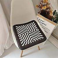 チェアパッド、コットンクッションチェアクッション、シートクッション、チェアシートパッドスリップフリータフテッド低刺激性クッション| キッチンダイニングルーム| 柔らかく快適な座席(2点セット)