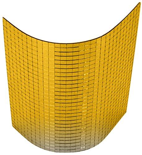 Spiegelmatten 10mm Facetten in der Größe 30 x 30cm gold zum Aufkleben Wallpanel Wand-Paneele zum kleben