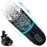 Elektrischer Masturbator Cup, Automatischer Cup-Masturbatoren Paloqueth Sexspielzeug für Männer mit 7 Teleskop und Rotationsmodi, Penis Stimulator
