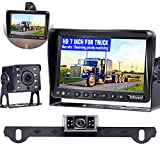 Backup Camera for Trailer,HD Night Vision 2 Rear View Cameras 7'' LCD Monitor High-Speed Observation No Delay Kit Compatible with Furrion Pre-Wired for RVs Truck Bus Caravan Camper Boat-DoHonest P13