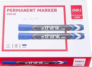 deli Permanent Marker Low Odor Ink EU10030 -  Pack  of 12