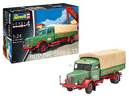 Revell 7555 S 13 Plastic Model Kit 07555 1:24 Büssing 8000, Mehrfarbig, 1/24