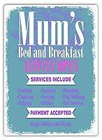 2個 ママのベッド&ブレックファーストノスタルジックな広告ウォールサイン8X12インチ