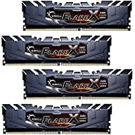 G.SKILL 64GB (4 x 16GB) Flare X Series DDR4 PC4-25600 3200 MHz 288-Pin Desktop Memory Model F4-3200C14Q-64GFX