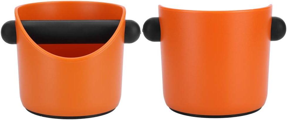 Mini-Kaffee-Klopfbox Kaffeesatzbeh/älter rutschfeste Kaffee-Klopfbox K/üchenkaffee-Zubeh/ör Zerodis Kaffeesatzbeh/älter Orange