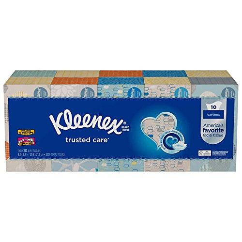 Kleenex Facial 10 Pack230 Tissues in Each Box White