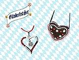 KarnevalsTeufel 2-tlg. Oktoberfestset, Dirndltasche in Herzform und Herzkette, Wiesn