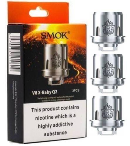 Bobina Q2 Smok V8 X-Baby 0.4 Ohm para TFV8 X Baby Tank, Stick X8 Kit y G-priv 2 Kit, paquete de 3 -