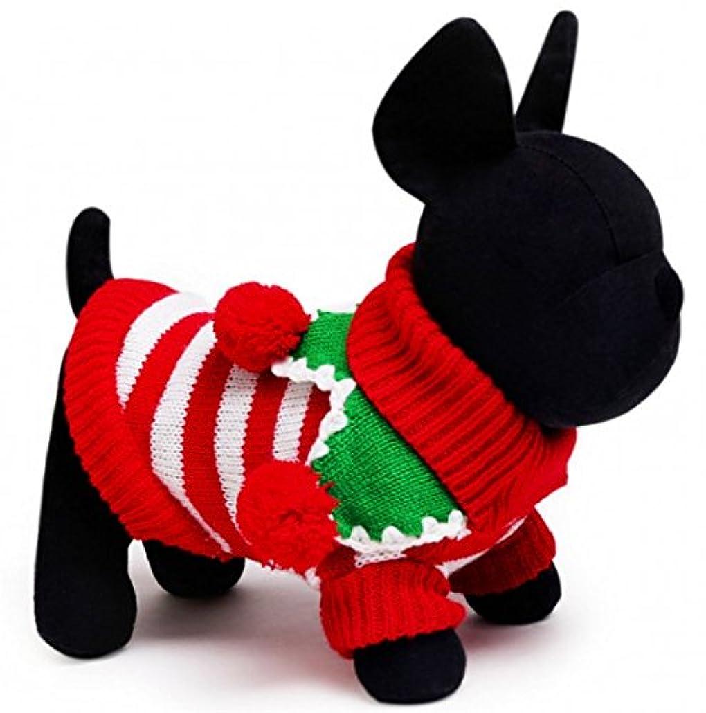 表面的な防ぐペアSUJESI 可愛い ペット服Tシャツ 中小型犬猫用ニットセータードッグウェア 暖かい 防寒 コート春秋冬服 綿製 お散歩お出かけウェアに