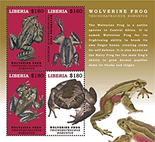 2017 Wolverine Frog, Collectible Sheet of 4 Stamps, Mint Never Hinged