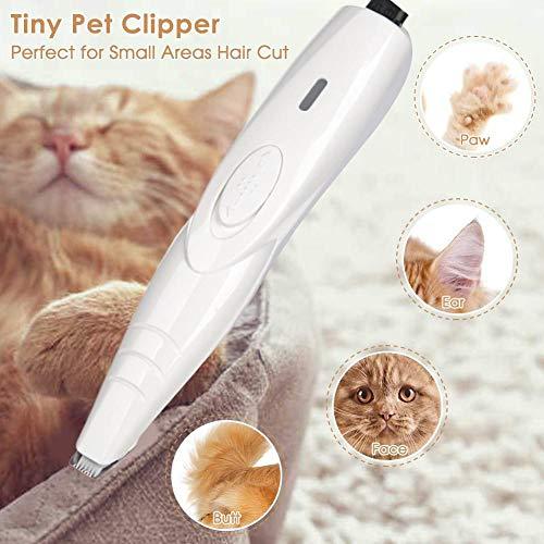 Seasons Shop tondeuse voor honden en katten, professioneel, stil, oplaadbaar, draadloos, afneembaar, USB, oplaadbaar, keramische messen voor kleine honden, katten