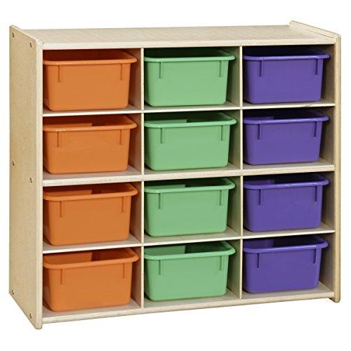 Contender 2 Shelf Bookcase, Toy Storage Organizer, Arts, Crafts & Supplies Storage Unit |Home, Office, Classroom, Daycare, Montessori Shelf In Natural Finish