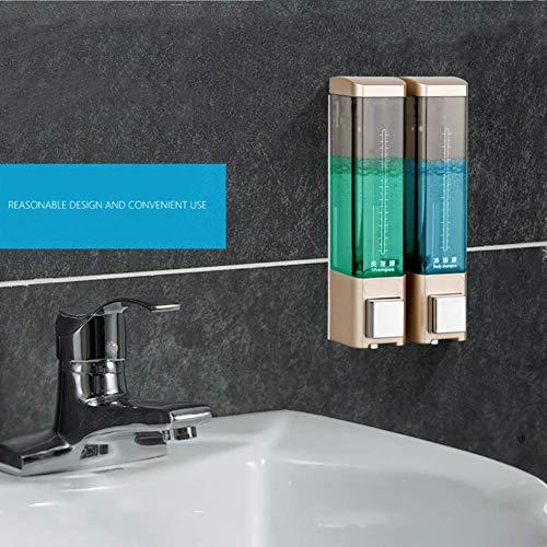 JKCKHA Dispensador de jabón 180 ml de Montaje en Pared Bomba de la loción del jabón líquido Champú Box for el hogar del Hotel Baño Ducha