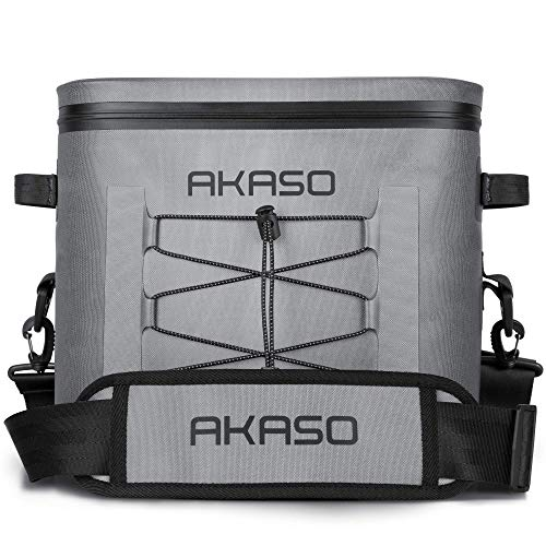 AKASO Cooler Bag for 24 Cans, Leakproof & Waterproof Soft Cooler Keep Cold & Warm up to 60 Hours, Soft Sided Cooler Bag Tiktok for Camping, Fishing, Road Beach Trip, Hiking, Picnics