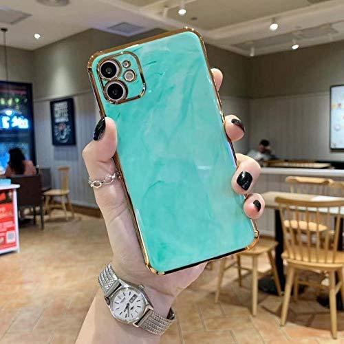WGOUT Funda para teléfono chapada en Oro con Textura de mármol para iPhone 12 Pro MAX 11 XR XS MAX X 7 8 Plus 12Pro 11 Pro MAX 11 Funda Protectora para cámara, T5, para iPhone 11 Pro