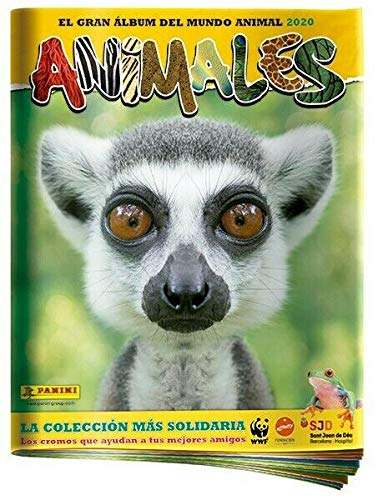 Panini Album + 20 Sobres con 120 cromos Animales 2020