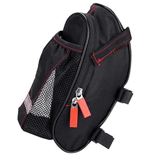 Bolsa de cola de botella de agua de asiento de gran capacidad para bicicleta de montaña para bolsa de sillín de bicicleta portátil a prueba de lluvia Bolsa de nailon para tija de sillín de bicicleta