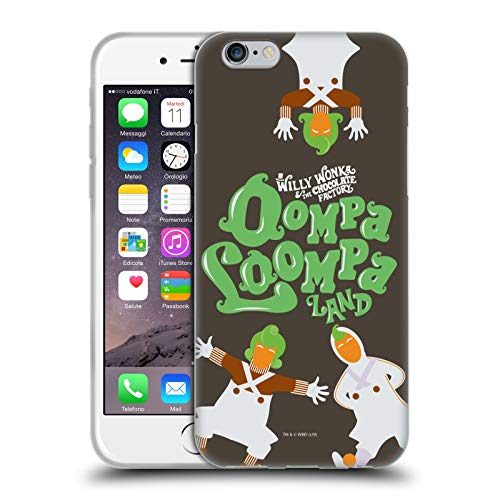 Head Case Designs Ufficiale Willy Wonka And The Chocolate Factory Oompa Loompa Grafiche Cover in Morbido Gel Compatibile con Apple iPhone 6 / iPhone 6s