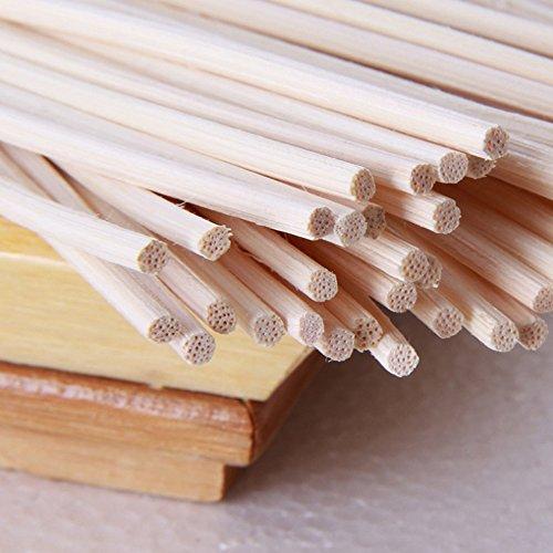Varillas de ratán de alta calidad, 100 unidades, varillas de ratán aromáticas de 3 mm x 22 cm