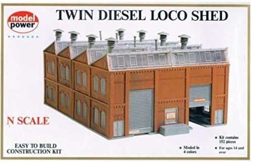 Twin Diesel Loco Shed N Kit by Model Power