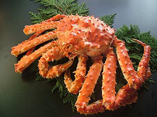 黒帯 冷蔵 タラバガニ 姿 浜茹で 天然 ボイル 本 たらば蟹 姿 (2kg1尾入)