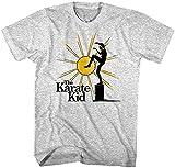 Photo de Karaté Kid Rising Sun Kick T-shirt pour homme Daniel-San Larusso Cobra Kai Aquarelle - Noir - XX-Large par