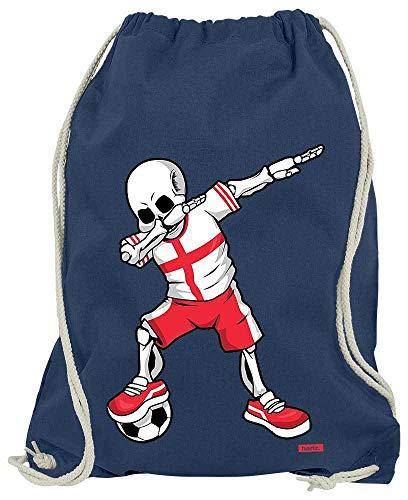 HARIZ Turnbeutel Fussball Dab Skelett England Trikot Mannschaft Plus Geschenkarte Navy Blau One Size