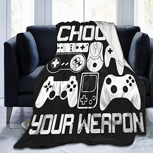 """Your Weapon Gamer Gaming Ultra Soft Flannel Throws Bed Blankets for Living Room Bedroom Couch Sofa Chair Office Car 60""""x50"""""""
