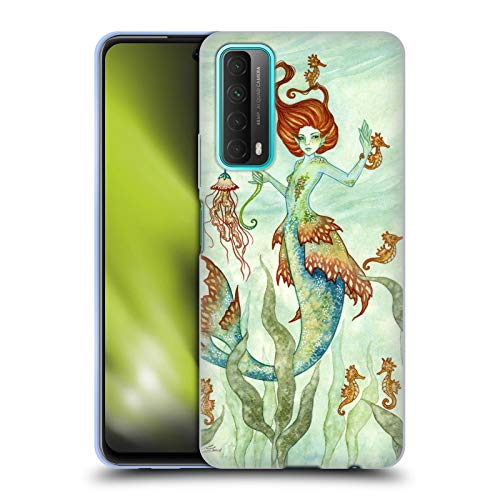 Head Case Designs Licenciado Oficialmente Amy Brown Guardián del Caballo Hadas Elementales Carcasa de Gel de Silicona Compatible con Huawei P Smart (2021)