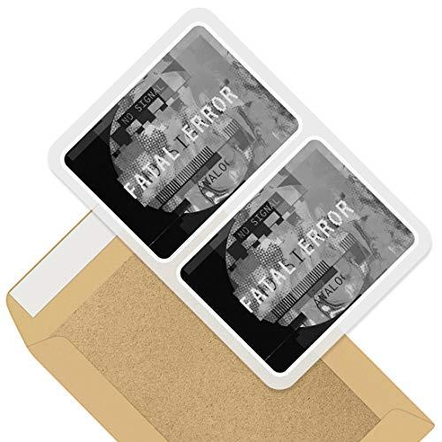 Impresionante pegatinas rectangulares (juego de 2) 10 cm – Fallecible señal de TV para juegos, calcomanías retro divertidas para portátiles, tabletas, equipaje, reserva de chatarra, frigorífico, regalo genial #43287