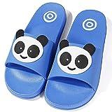 Chanclas de playa Zapatos de Piscina Panda para Niña Niño Sandalias Verano Antideslizante Zapatillas de Baño Casa Hombre Mujer Azul 37/38 EU = 38