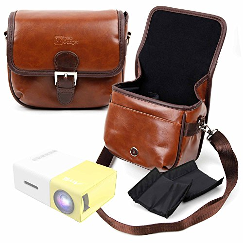 DURAGADGET Bolsa Profesional marrón con Compartimentos para Proyector ARTLII Mini Projector, ARTLII...