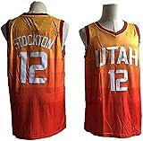 WSUN Camiseta De Baloncesto De La NBA - 12# John Stockton Camisetas De La NBA para Hombre - Camiseta Deportiva De Baloncesto Sin Mangas Transpirable De Ocio,S(165~170CM/50~65KG)