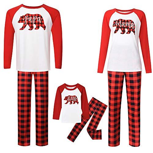 TLLW Familia de Navidad Pijamas de Navidad Familia Coincidencia Oso Polar Pijama PJ Conjuntos de las Mujeres de Coincidencia de Navidad